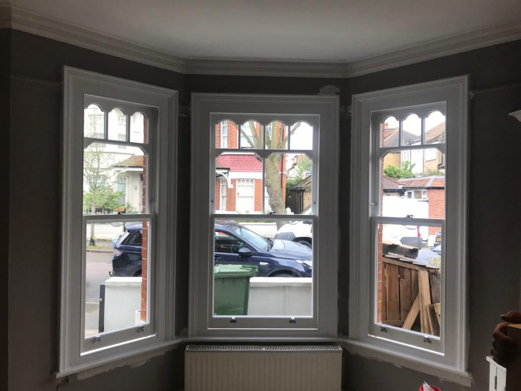Bespoke timber sash windows installed in Surrey